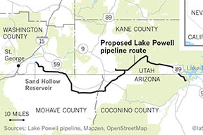 From Eric Kuhn on the Fleck Blog: The roots of a coming Lake Powell Pipeline legal tangle