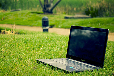 Computer in Grass