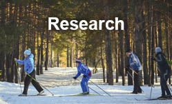Research (people cross country skiing)