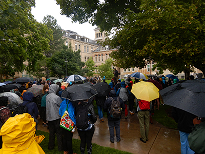 Global Climate Strike draws more than 100 to USU Quad