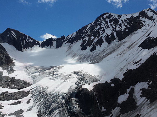 Slow Motion Disaster: Receding Glaciers Open Space for Invading Algae