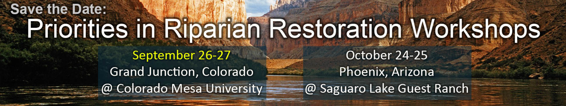 Save the Date for Restoration Decisions Workshop